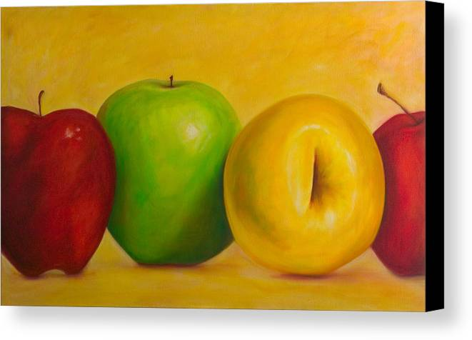 Still Life Canvas Print featuring the painting Chorus Line by Shannon Grissom
