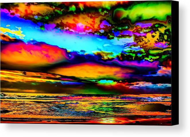 World's Canvas Print featuring the digital art Clouds With Attitude by Ron Fleishman