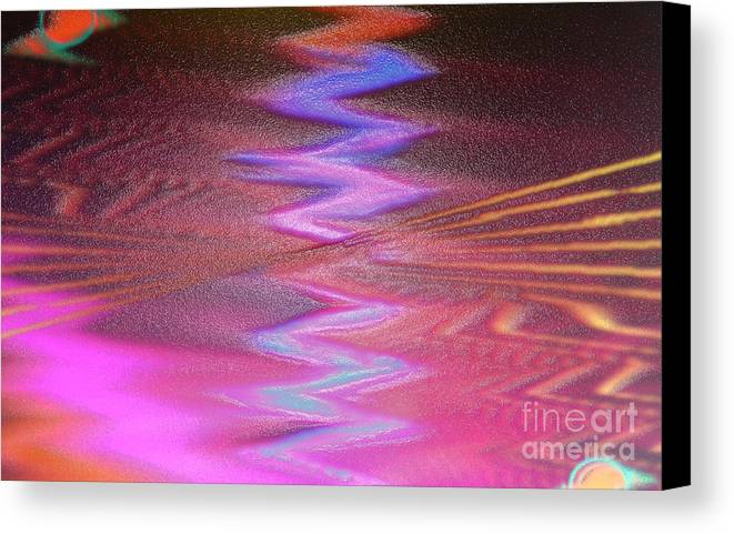 Digital Art Canvas Print featuring the digital art Dance In Pink by Deb JAZI Raulerson
