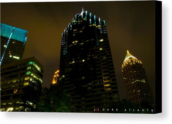 Atlanta Canvas Print featuring the photograph Dark Atlanta by Jonathan Ellis Keys