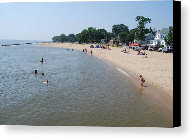 Beach Canvas Print featuring the photograph Day At The Beach by Jennifer Lauren