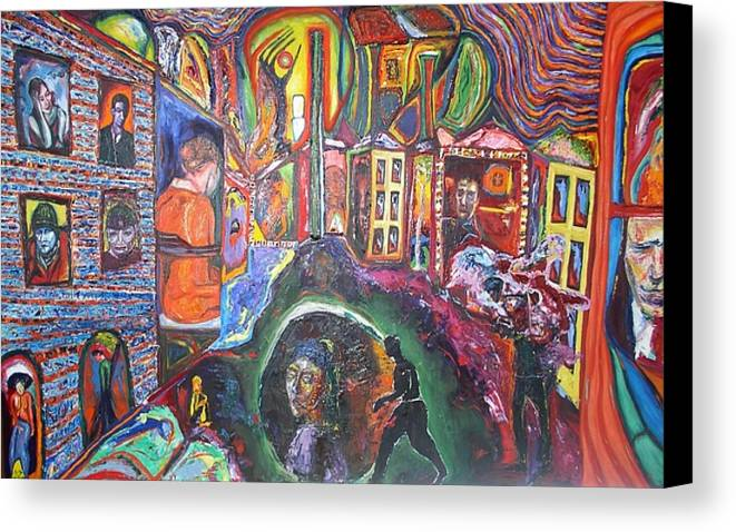 Expressive Canvas Print featuring the painting Different Stuff by Kennedy Paizs