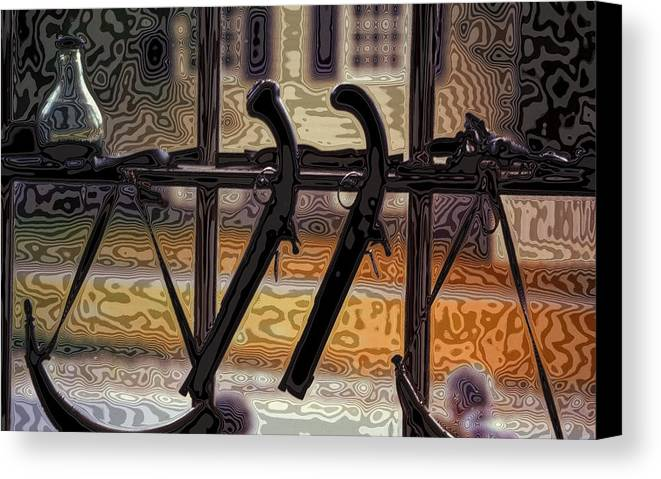 Guns Canvas Print featuring the photograph Dueling Pistols In Williamsburg by Carl Purcell