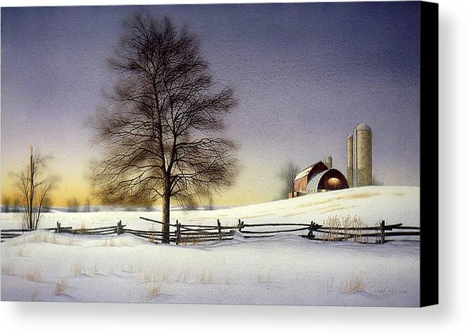 Rural Canvas Print featuring the painting End Of Day by Conrad Mieschke
