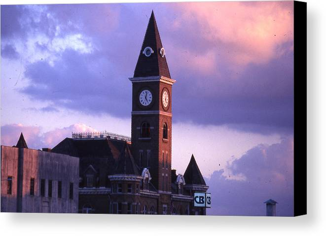 Canvas Print featuring the photograph Fayetteville Courthouse by Curtis J Neeley Jr