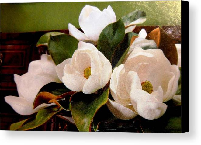 Flowers Canvas Print featuring the photograph Flowers From The South by Lord Frederick Lyle Morris
