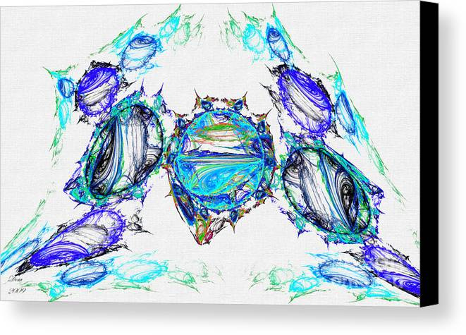 Fractal Canvas Print featuring the digital art Goutte D by Dom Creations