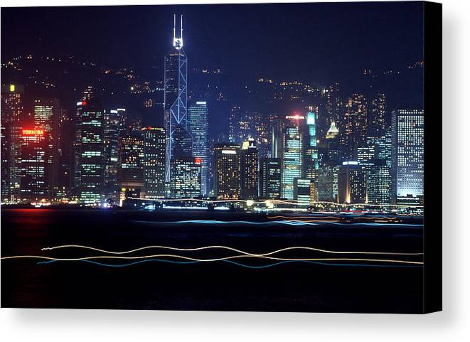 City Canvas Print featuring the photograph Hong Kong Harbor by Brad Rickerby