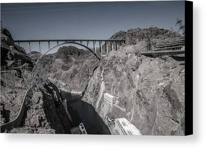 Scenic Canvas Print featuring the photograph Hoover Dam Bridge by William Bitman