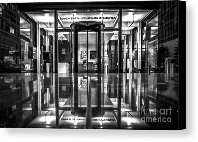 Archicture Canvas Print featuring the photograph International Center Of Photography, Nyc by James Aiken