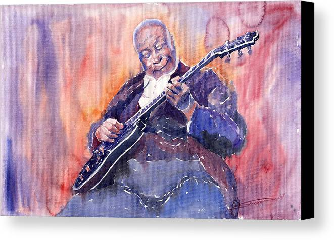 Jazz Canvas Print featuring the painting Jazz B.b. King 03 by Yuriy Shevchuk