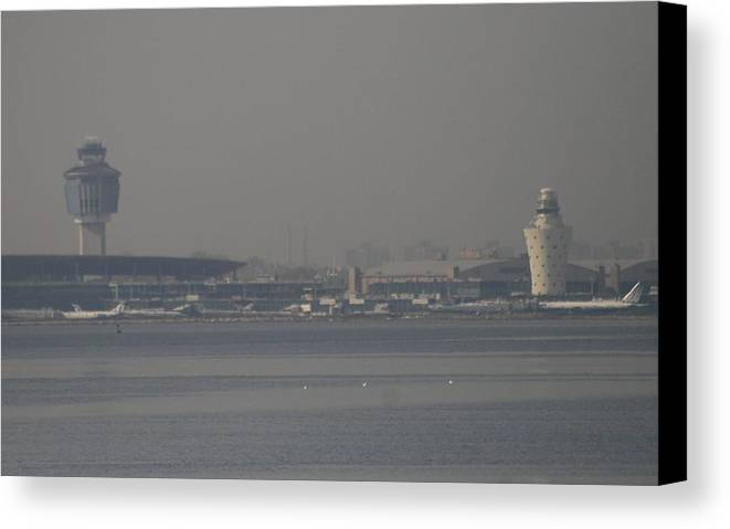 La Guardia Airport Canvas Print featuring the photograph La Guardia From The Bronx by Christopher Kirby