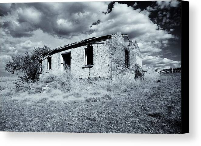 Ruin Canvas Print featuring the photograph Left In Ruin by Mike Dawson