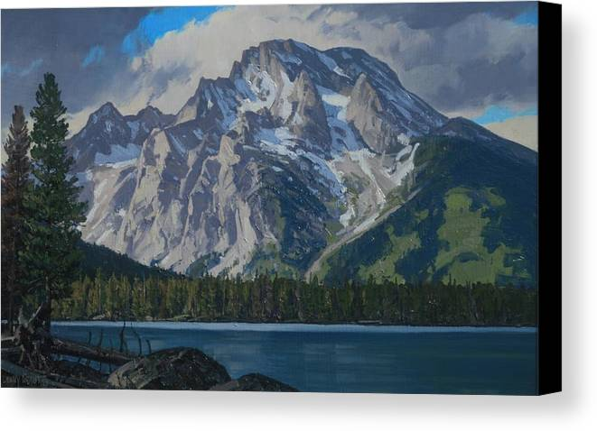 Landscape Canvas Print featuring the painting Leigh Lake by Lanny Grant