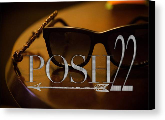 Canvas Print featuring the photograph Live. Posh by Zachary Venning