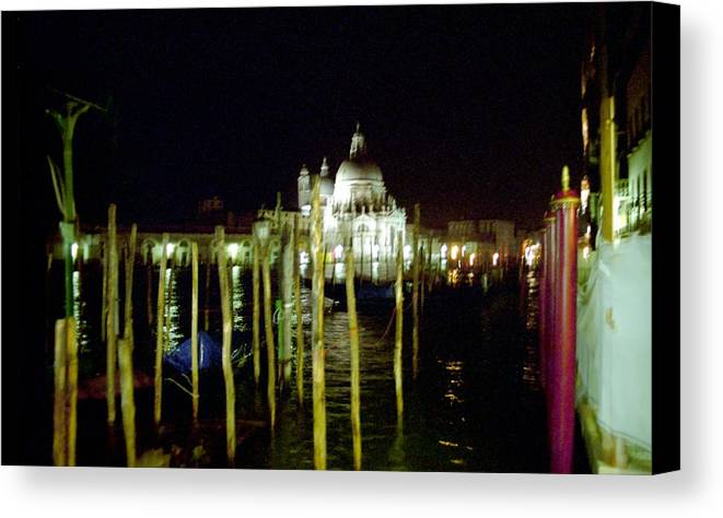 Venice Canvas Print featuring the photograph Maria Della Salute In Venice At Night by Michael Henderson
