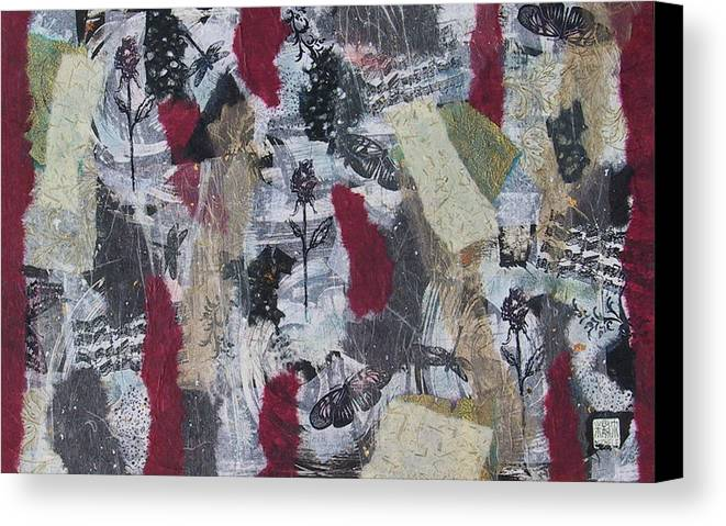 Collage Canvas Print featuring the mixed media Music And Roses by Michele Caporaso