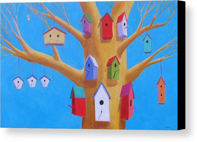 Bird House Canvas Print featuring the painting Off Season 4 by Scott Gordon