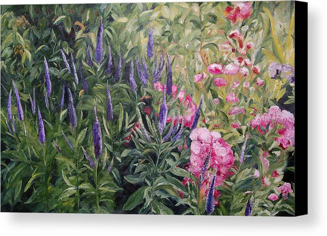 Konkol Canvas Print featuring the painting Olbrich Garden Series - Garden 2 by Lisa Konkol