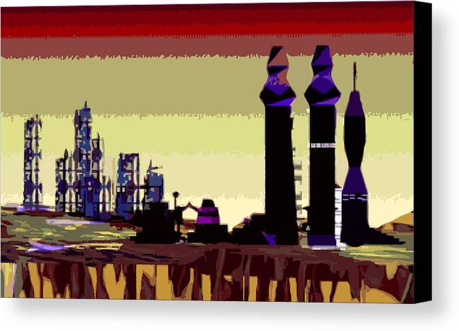 Mars Canvas Print featuring the digital art Old Mars And New Mars by Alexandra Cook