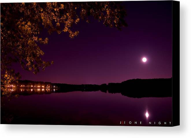 Lake Canvas Print featuring the photograph One Night by Jonathan Ellis Keys