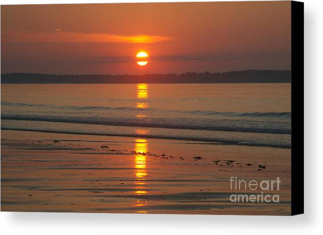 Sun Canvas Print featuring the photograph Oob Sunrise 3 by Ray Konopaske