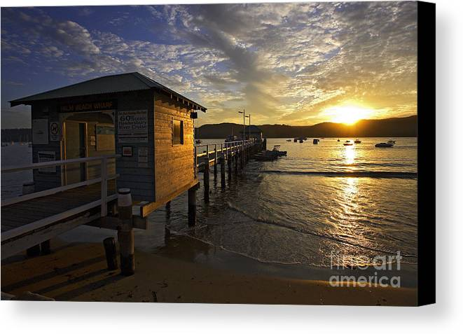 Palm Beach Sydney Australia Sunset Water Pittwater Canvas Print featuring the photograph Palm Beach Sunset by Sheila Smart Fine Art Photography