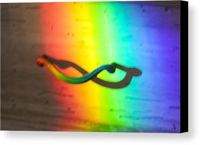 Rainbow Canvas Print featuring the photograph Photo by Glenn Jenks