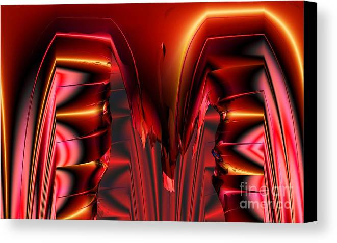 Pinned Canvas Print featuring the digital art Pinned by Ron Bissett