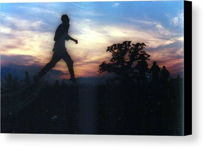 Sunset Canvas Print featuring the photograph Race To Sunset by Michael Facey