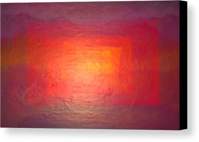 Abstract Landscape Canvas Print featuring the painting Rectanglands by Sally Van Driest