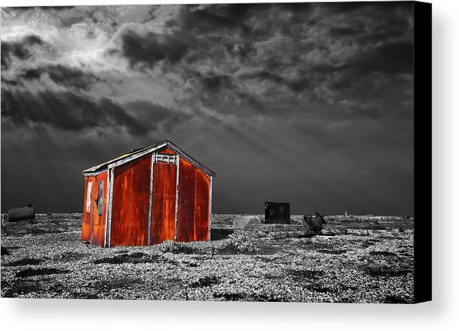 Corrosion Canvas Print featuring the photograph Rusting Away by Meirion Matthias