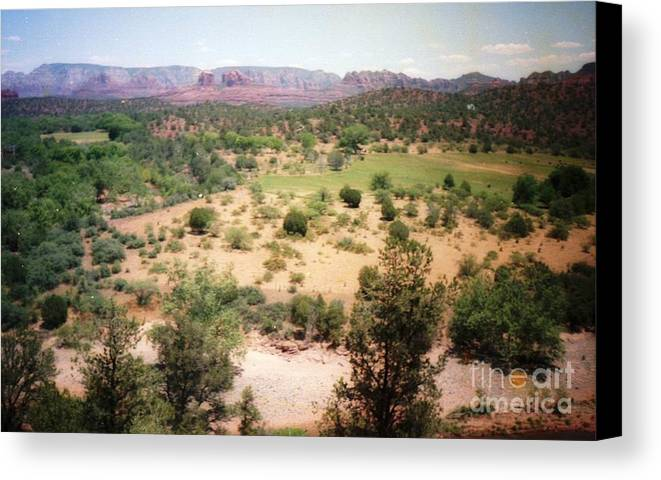 Arizona Canvas Print featuring the photograph Sedona View Red Rock Mesa by Ted Pollard