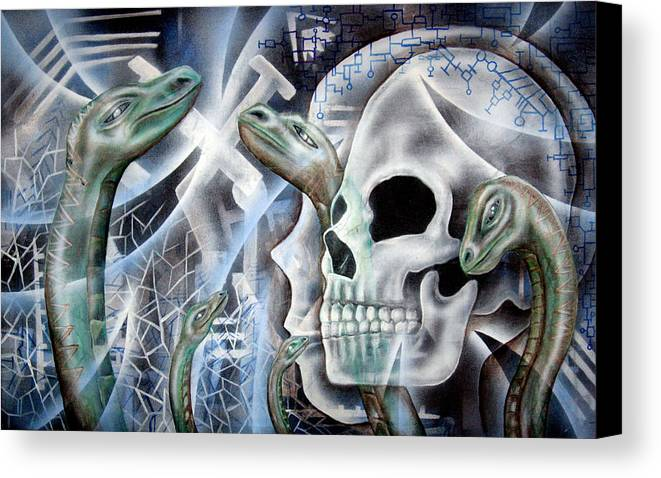 Snake  Canvas Print featuring the painting Snake Creation by Leigh Odom