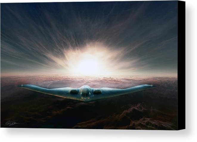 B-2 Canvas Print featuring the digital art Spirit In The Sky by Peter Chilelli