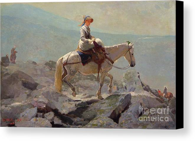 The Bridal Path Canvas Print featuring the painting The Bridal Path by Winslow Homer