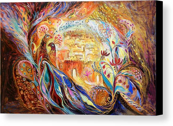 Original Canvas Print featuring the painting The Keepers Of Old City by Elena Kotliarker