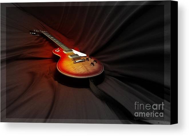 Guitar Canvas Print featuring the photograph The Les Paul by Steven Digman