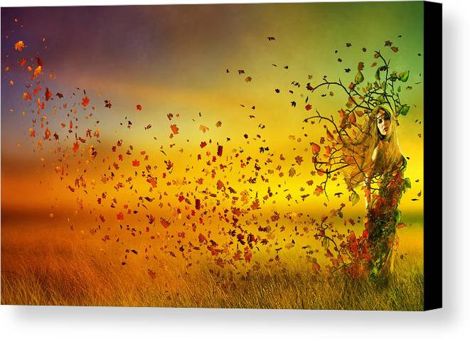 Fall Canvas Print featuring the digital art They Call Me Fall by Mary Hood