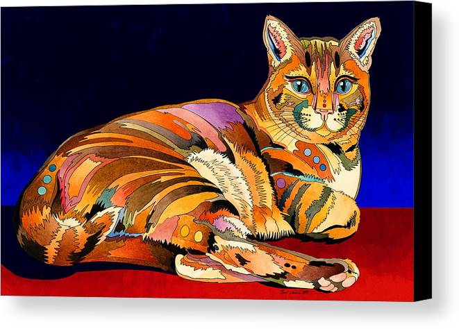 Cat Art Canvas Print featuring the painting Tumbleweed by Bob Coonts