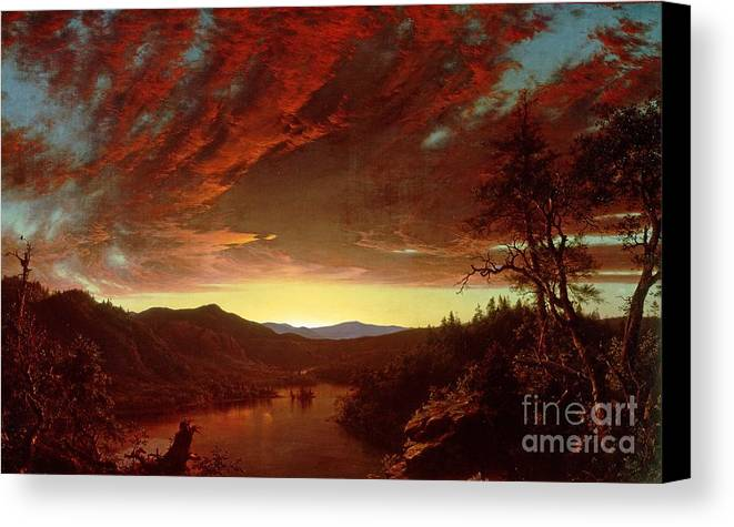 Twilight Canvas Print featuring the painting Twilight In The Wilderness by Frederic Edwin Church