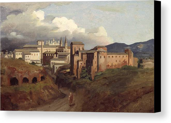 View Canvas Print featuring the painting View Of Saint John Lateran Rome by Joseph Desire Court