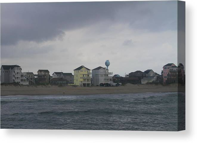 Obx Canvas Print featuring the photograph Clouds Over Rodanthe 3 by Cathy Lindsey