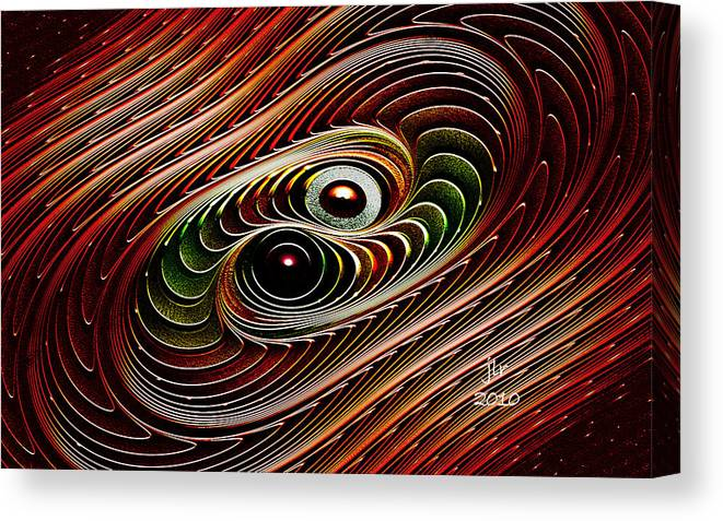 Buddhakat Canvas Print featuring the digital art Dance Galactica by Janet Russell