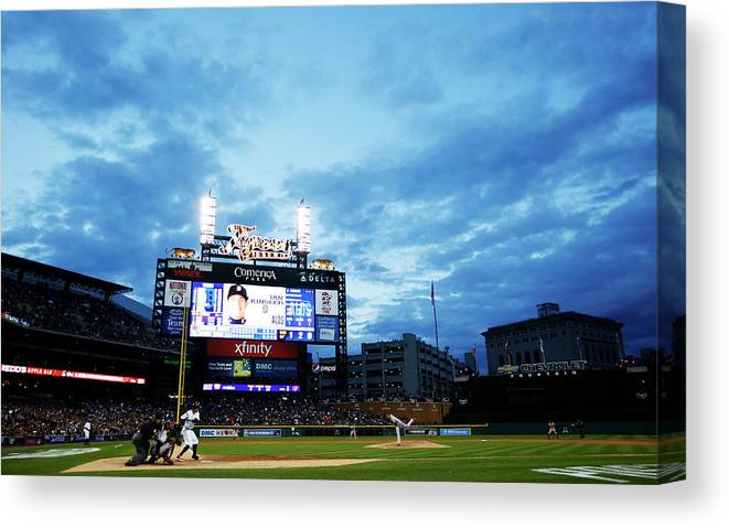 American League Baseball Canvas Print featuring the photograph Division Series - Baltimore Orioles V 1 by Gregory Shamus