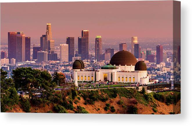 Architecture Canvas Print featuring the photograph Los Angeles by Radek Hofman