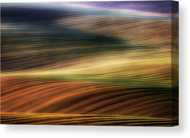 Moravia Canvas Print featuring the photograph Autumn Fields by Piotr Krol (bax)
