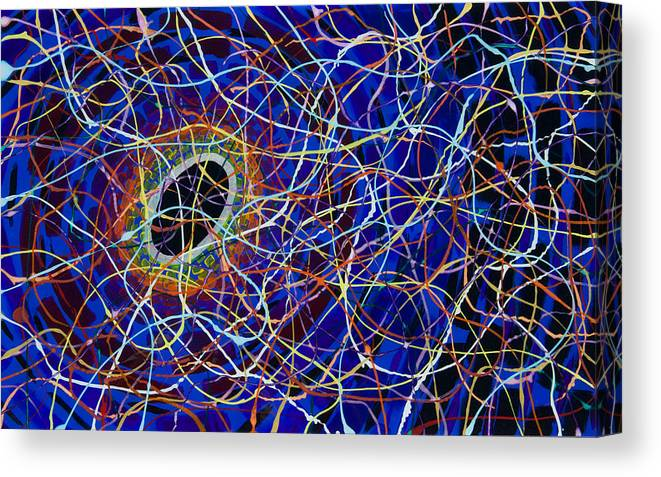 Plexiglass Canvas Print featuring the painting Black Hole by Patrick OLeary