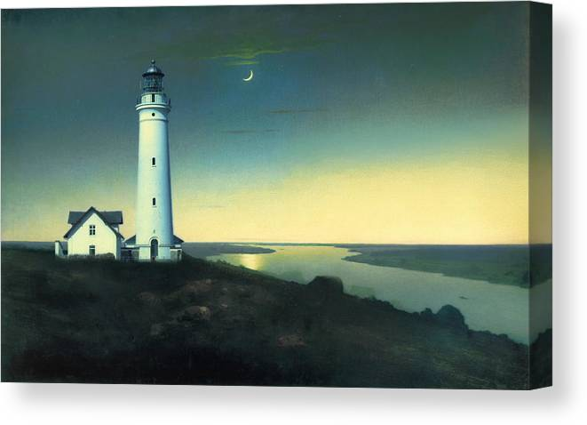 Light House Canvas Print featuring the painting Daily Illuminations by Douglas MooreZart