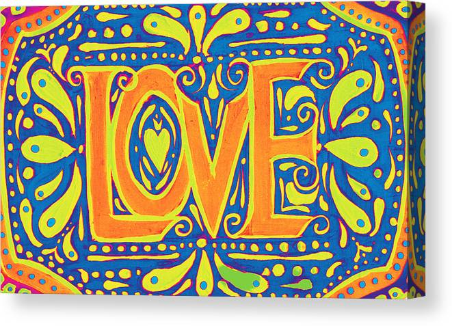 New Love Canvas Print featuring the painting New Love by Nada Meeks